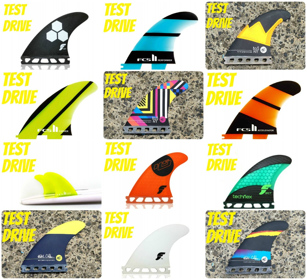 Test Drive Fins Collage