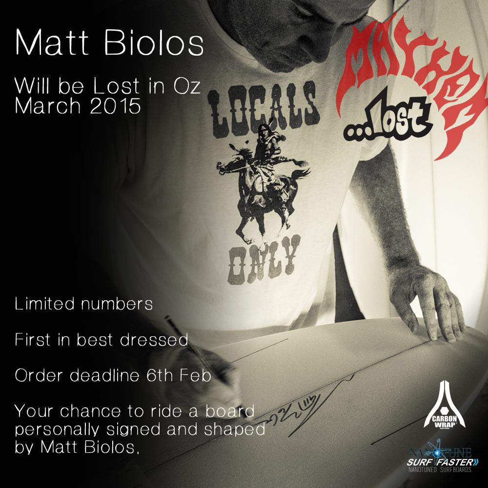 Matt Mayhem Biolos  Australian Tour