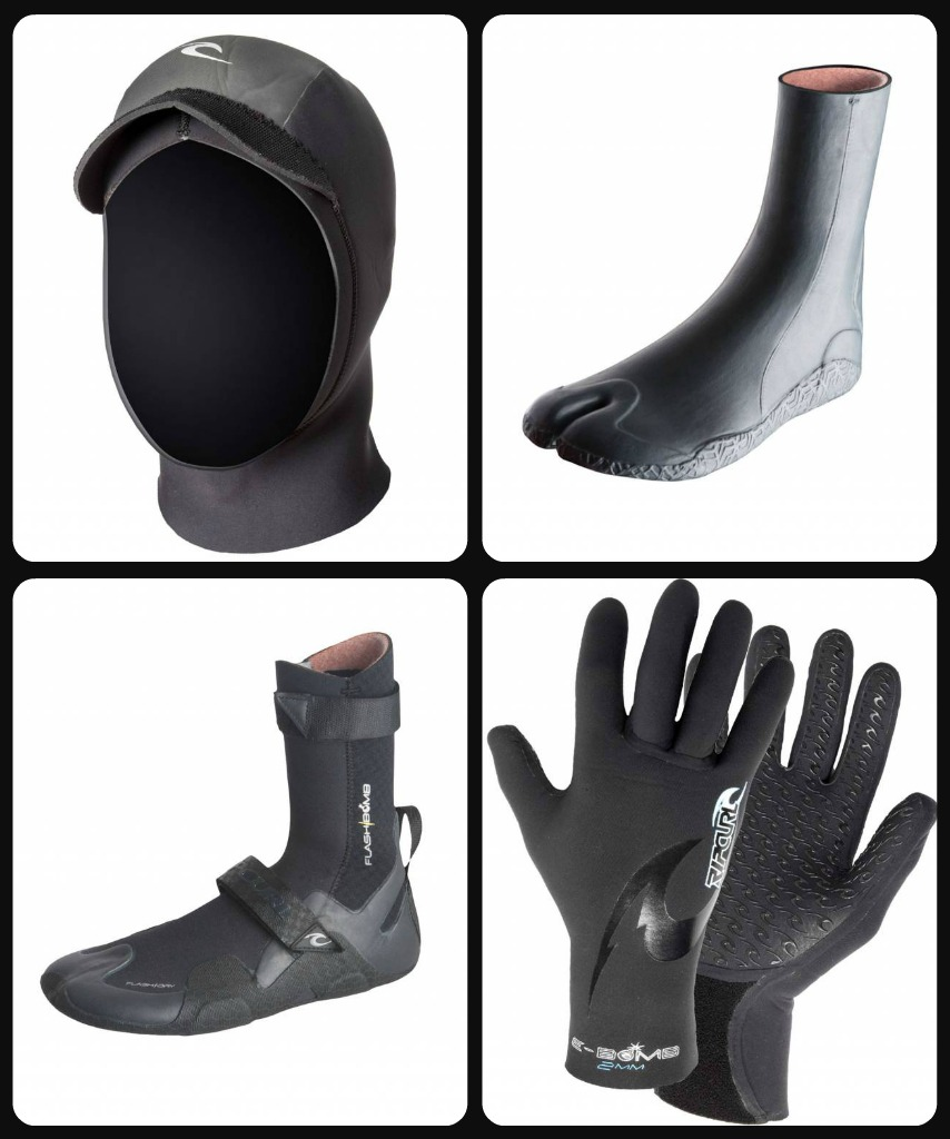 Rip Curl Hoods Boots collage
