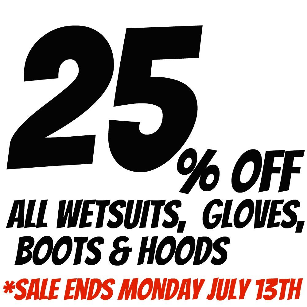 Wetsuits on Sale until Monday