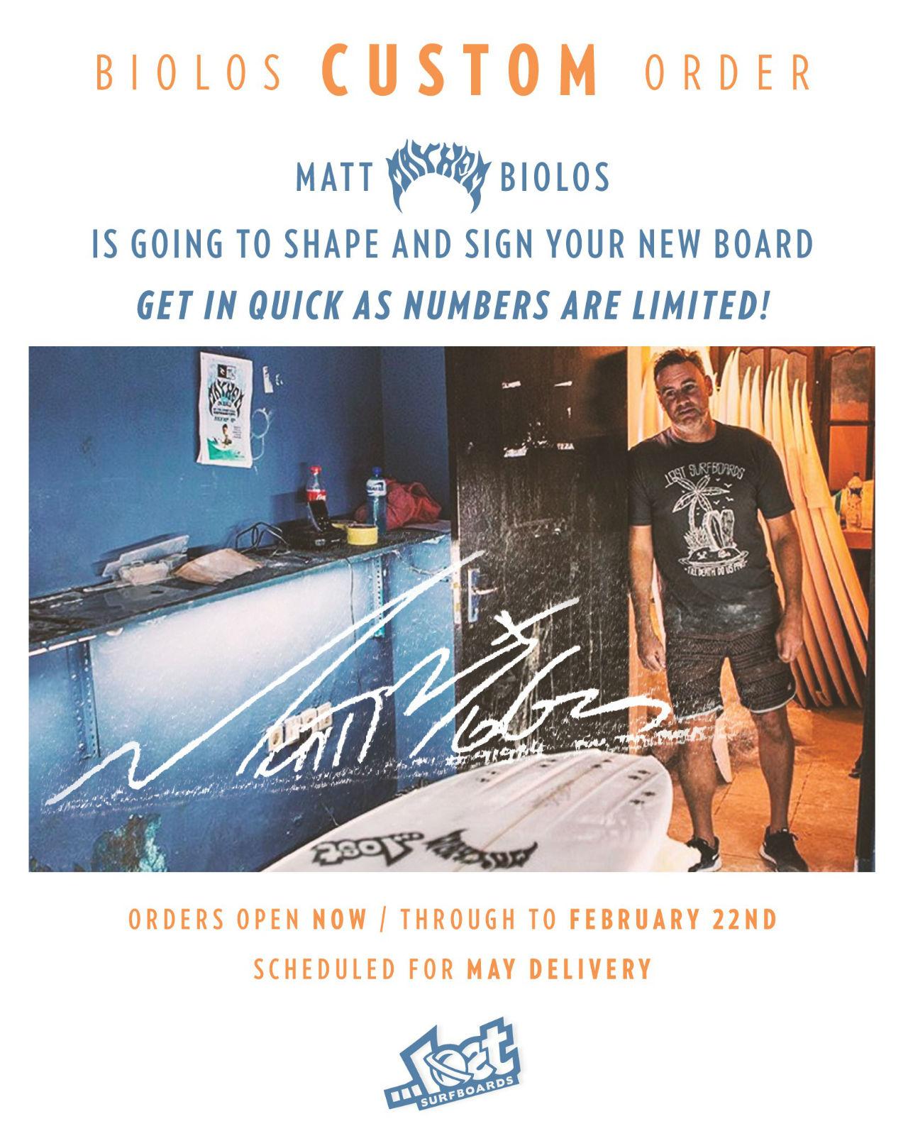 Matt Mayhem Biolos in Australia