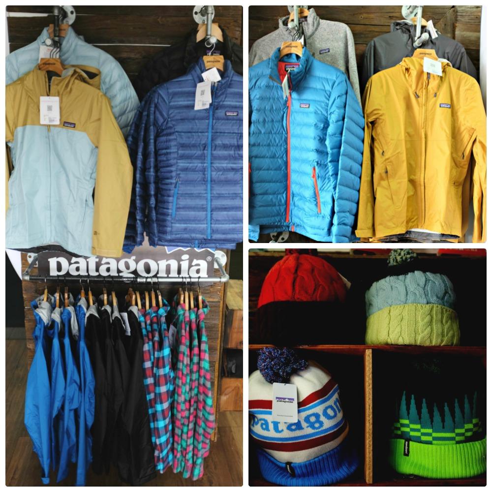 patagonia clothing collage