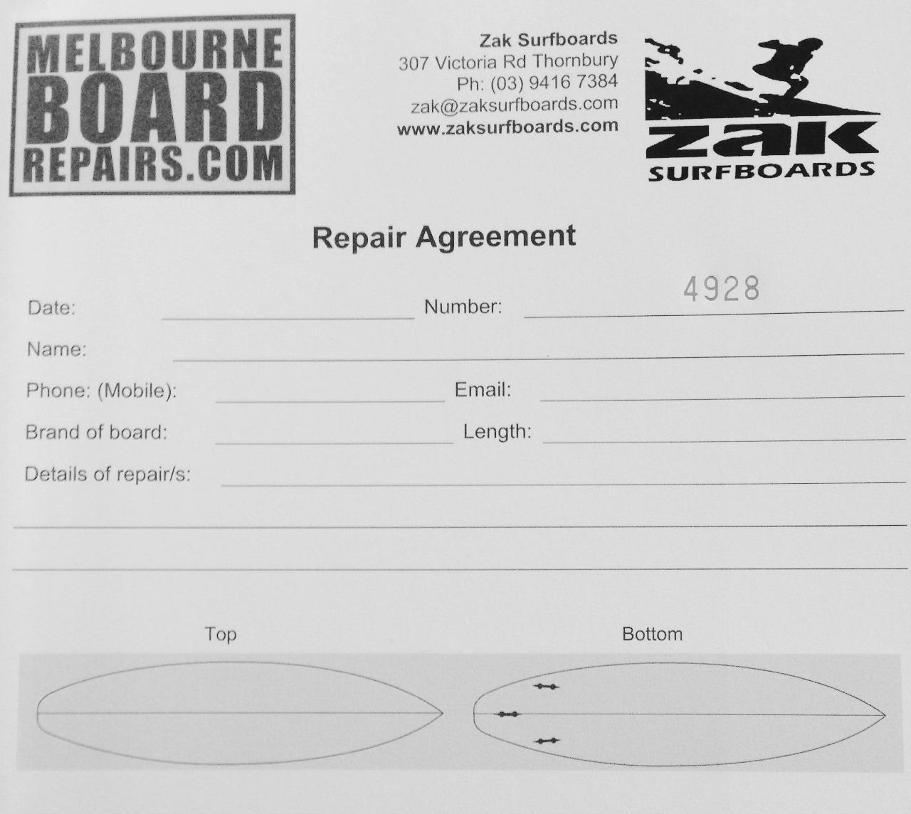 Surfboard Repairs Melbourne