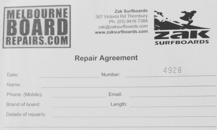 Surfboard repairs – Drop Off Monday, Finished Friday