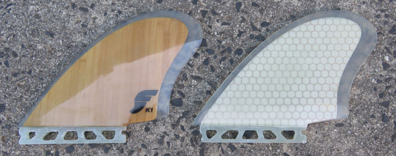 Fin Choices for Twin Fins Futures K1 Keel Fins Fiberglass Bamboo