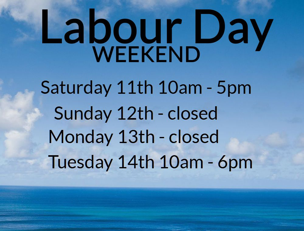 Labour Day Weekend 2017 Opening hours