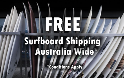Free Shipping on Surfboards within Australia