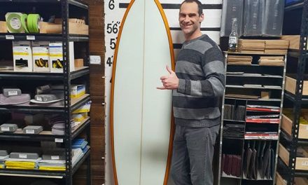 Tim whipped up this hybrid diamond tail 6'6