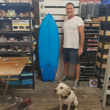 Michael finished up with a 5'7 twin fish with a blue cutlap tint