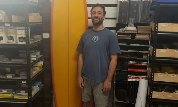 Leo ended up with this amazing midlength bonzer 2+1