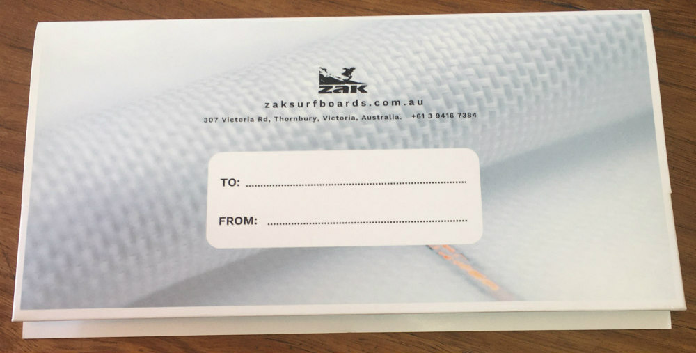 Gift Vouchers Zak Surfboards